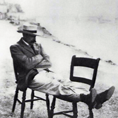 Elgar on chairs