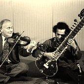Ravi Shankar with Yegudi Menuhin