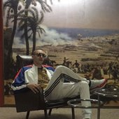 kareemlotfy in front of napoleon upon his arrival to alexandria