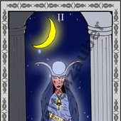 Die Hohepriesterin - The Priestess, One card of the Tarot-Deck. made by Weltenzauber.