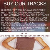 BUY OUR TRACKS! ASK ME HOW....