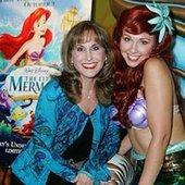 Jodi Benson and Ariel