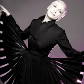 Annie Lennox Fair Shoot Black Fanned Jacket