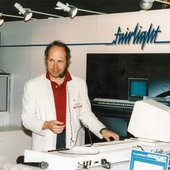 Jan showing off the Fairlight CMI