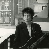 Andrea Eppink, bass player of Miami Beach Girls, 1981-1982