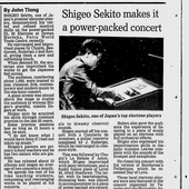 Shigeo Sekito makes it a power-packed concert