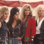 Vixen backstage at Donington 88