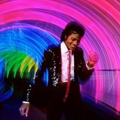 Michael Jackson photographed by Lynn Goldsmith at Epcot Center, 1984