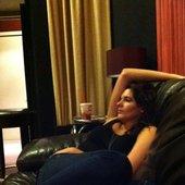 In the Studio listening....