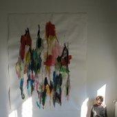 Felicia Atkinson, studio view, 2012