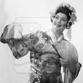 "Maria Biesu, soloist of the Moldavian State Opera and Ballet Theater, as Geisha Cio-Cio-San in opera \""Madame Butterfly\"" by Giacomo Puccini."