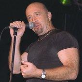 Performing at the Riverwalk Blues Festival, 1996