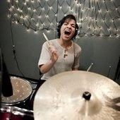 Chloe is a great drummer!