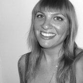Carly Comando Smiling (Black & White)