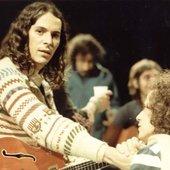Beto Guedes e Ronaldo Bastos na gravação do álbum Clube da Esquina em 1972