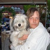 Horst with his Dog Pada 2005