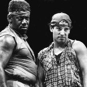 """Clarence Clemons """"Big Man"""" and Bruce Springsteen"""