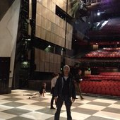 At Sadlers Wells minutes before giving my solo interpretive dance performance of Das Bobblehattenbach