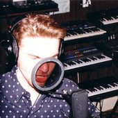 """Peter Riley in the studio during the \""""Seperate Ways\"""" recording session"""