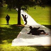 Gentlemen's slip and slide