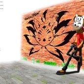 Young Youkaifox in Wall