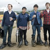 vampire weekend at glastonbury.