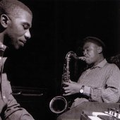 Jimmy Smith and Ike Quebec during Smith's Plain Talk/Open House session, Englewood Cliffs NJ, March 22 1960