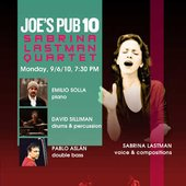 Announcemet for the performance at Joe's Pub