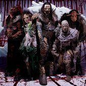"Lordi's new masks in ""Babez for breakfast\"" era :))))"