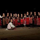 On stage at Koprivshtitsa