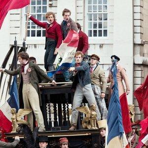 Image for 'Aaron Tveit, Eddie Redmayne, Students & Les Misérables Cast'