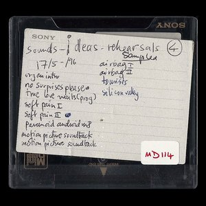 Image for 'MINIDISCS [HACKED] - MD114: Sounds - Ideas - Rehearsals 17/5-/96'